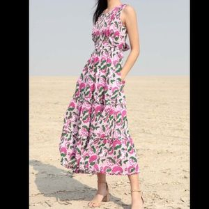 Banjanan • Isha Floral-Print Midi dress